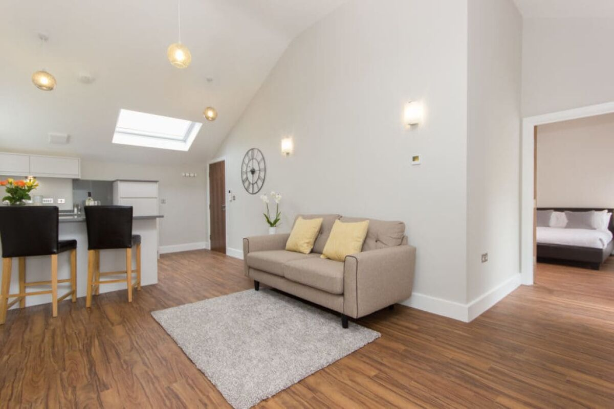 Living Area, The Dales Serviced Apartments, Cambridge