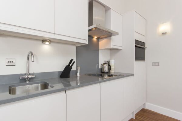 Kitchen, The Dales Serviced Apartments, Cambridge