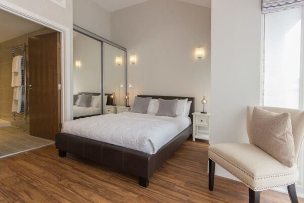 Bedroom, The Dales Serviced Apartments, Cambridge