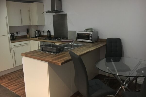 Kitchen and Dining Area, Musselburgh High Street Serviced Apartments, Musselburgh, East Lothian