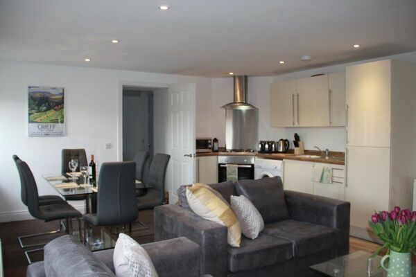 Open Plan Living Area, Musselburgh High Street Serviced Apartments, Musselburgh, East Lothian