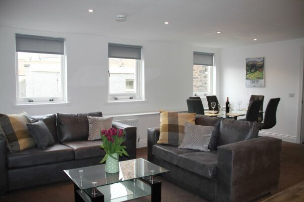 Living and Dining Area, Musselburgh High Street Serviced Apartments, Musselburgh, East Lothian