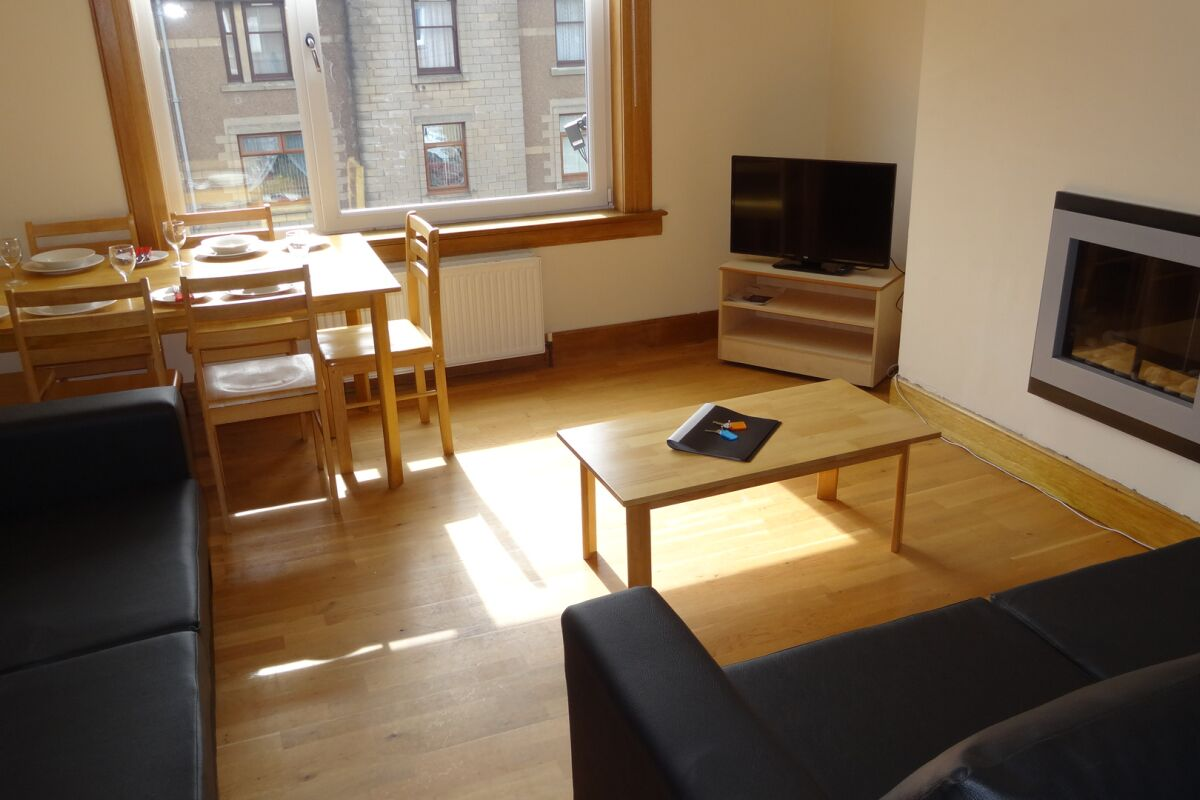 Living Area, Wallyford Serviced Apartment, Musselburgh