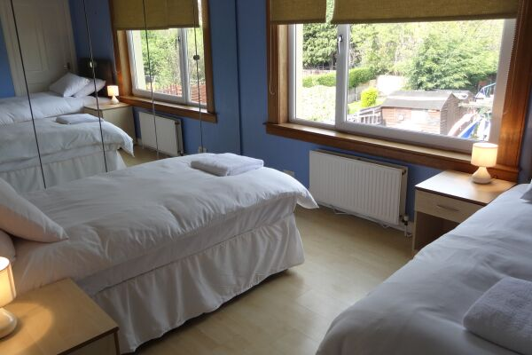 Bedroom, Wallyford Serviced Apartment, Musselburgh