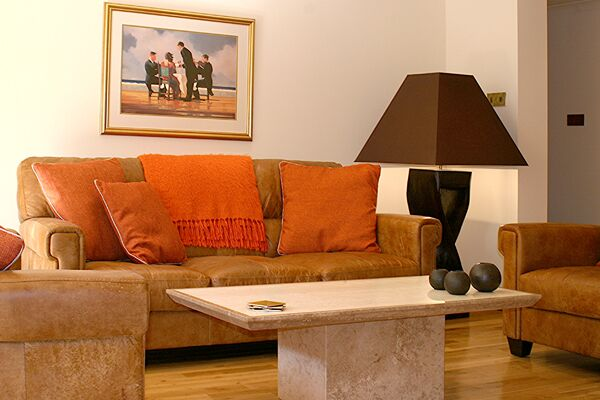Living Area, Park Terrace Serviced Apartment, Stirling