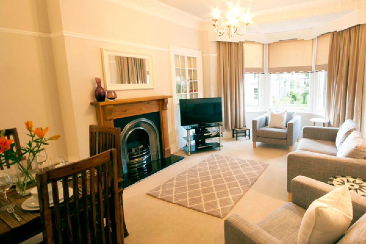 Living Area, Glebe Court Serviced Accommodation, Stirling