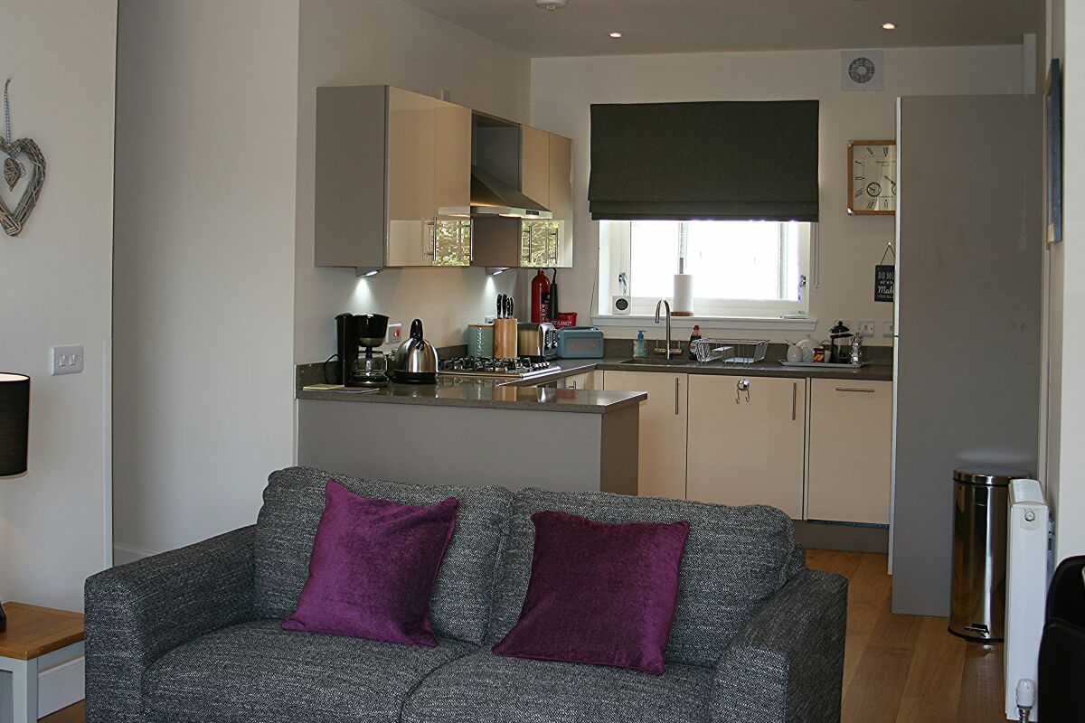 Kitchen and Lounge, Henderson Street Serviced Apartments, Stirling