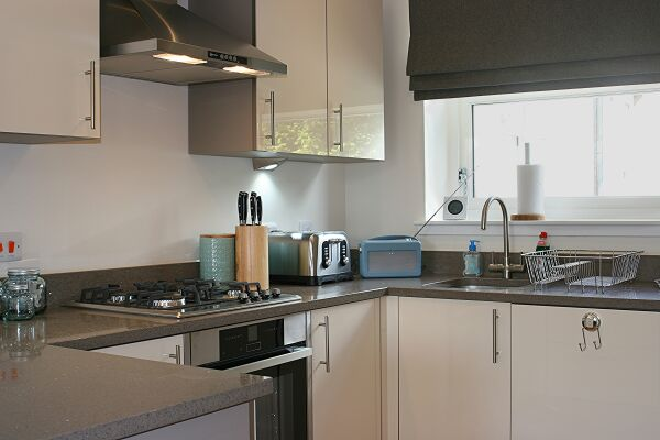 Kitchen, Henderson Street Serviced Apartments, Stirling