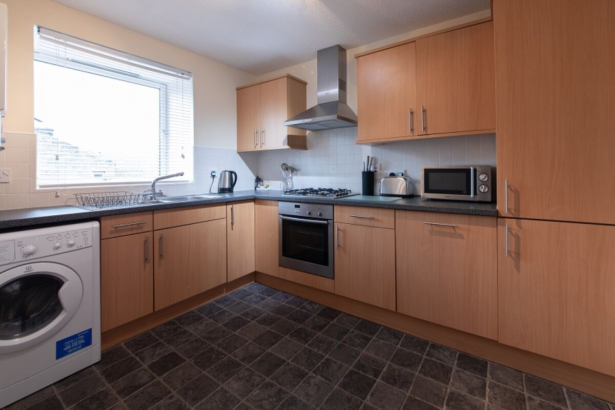 Kitchen, Great Western Road Serviced Apartments, Aberdeen