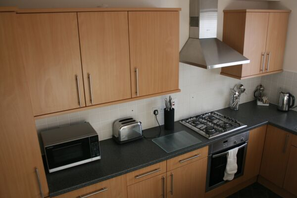 Kitchen, Great Western Road Serviced Apartments, Aberdeen