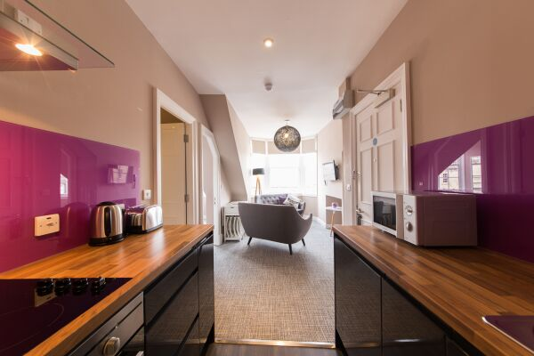 Open Plan Kitchen, Hanover Street Serviced Apartments, Edinburgh