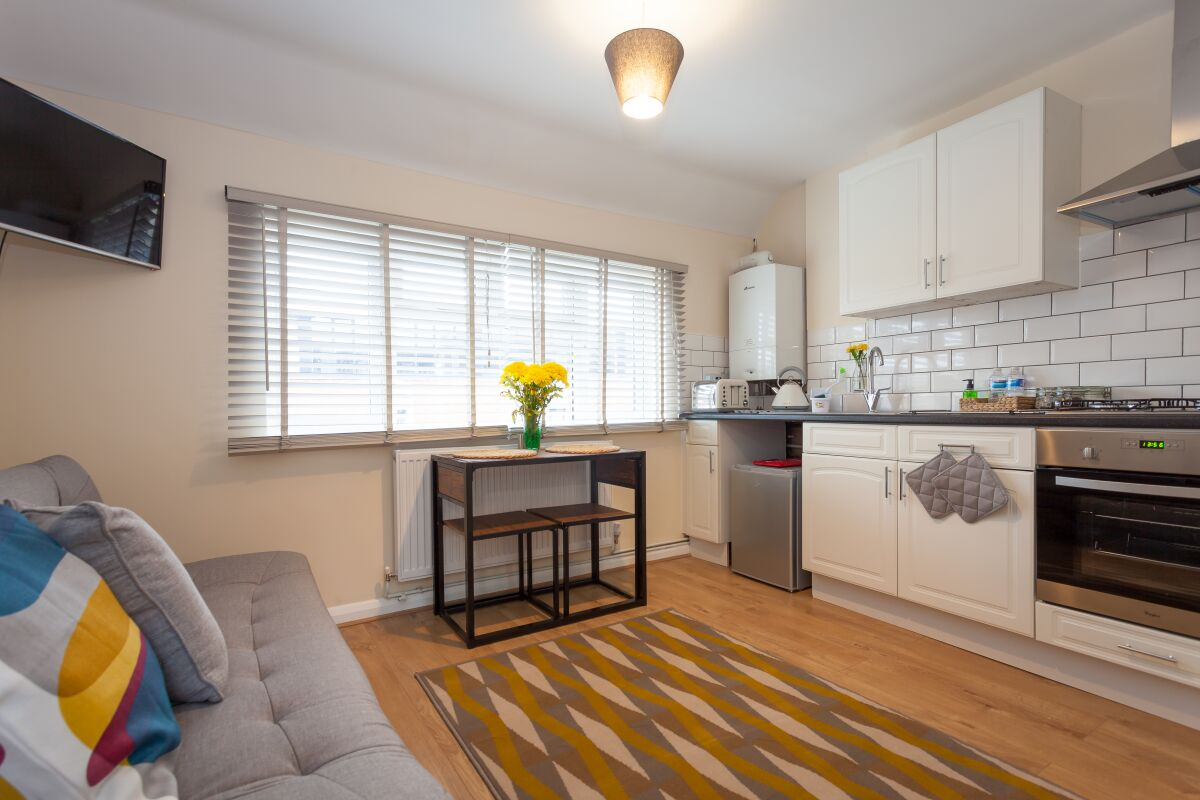Living Area and Kitchen, Eden Loft Serviced Apartments, High Wycombe