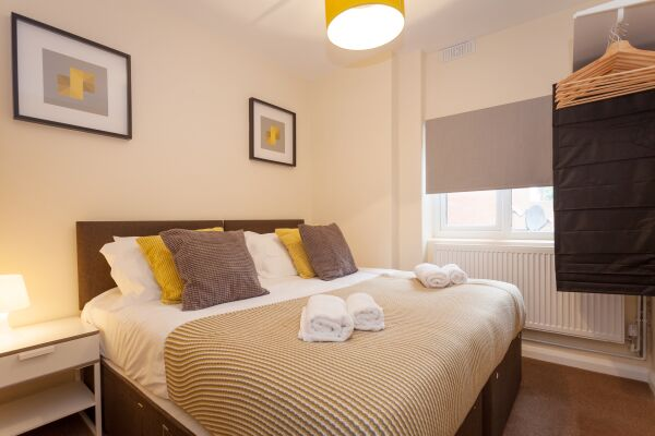 Bedroom, Eden Loft Serviced Apartments, High Wycombe