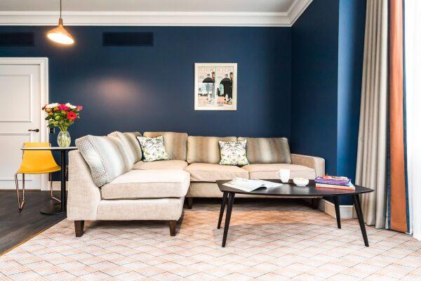 Living Area, Vincent Serviced Apartments, Glasgow