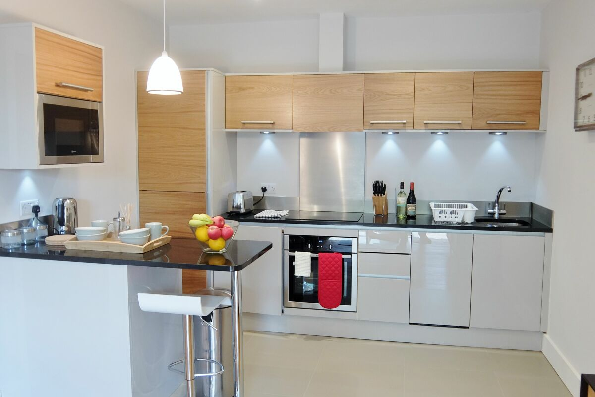 Kitchen, Twickenham Fraser Serviced Apartments, London