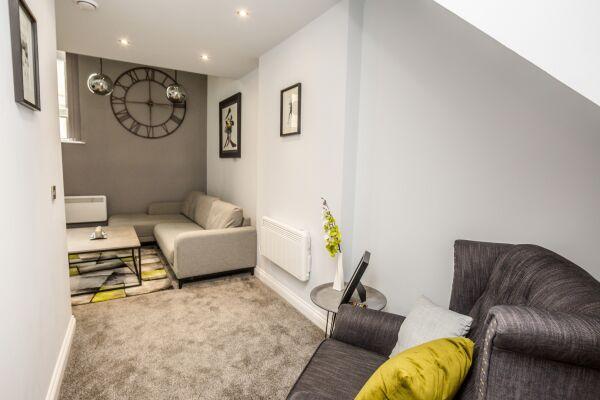 Living Area, Kirkgate Serviced Apartments, Huddersfield