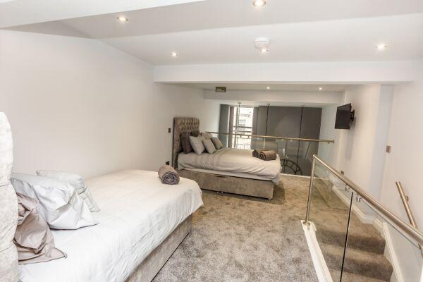 Bedroom, Kirkgate Serviced Apartments, Huddersfield