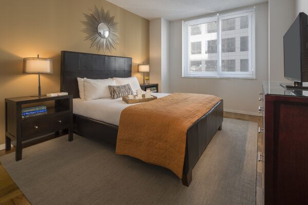 Bedroom, La Premiere Serviced Apartments, New York