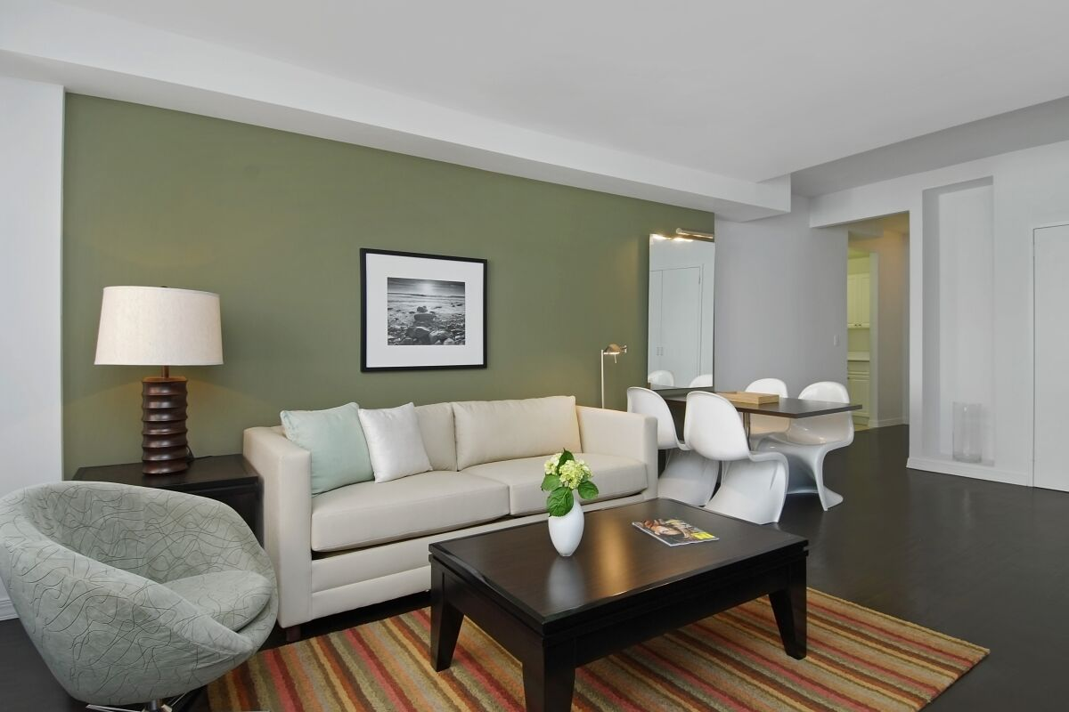 Living Area, 316 East Serviced Apartments, New York