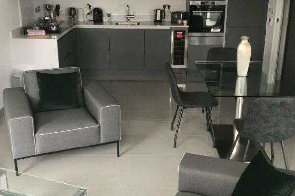 Open Plan Living Area, Blackfrairs Road Serviced Apartments, London