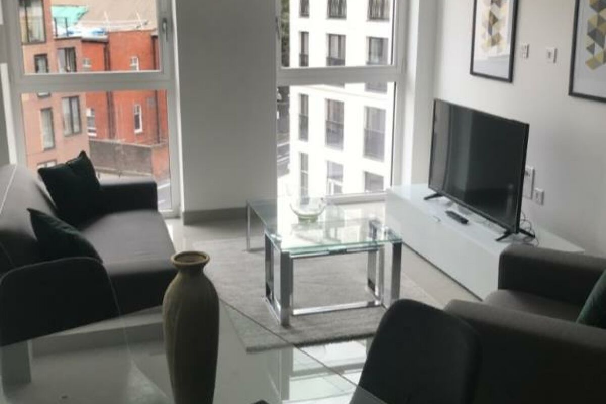 Living Area, Blackfrairs Road Serviced Apartments, London