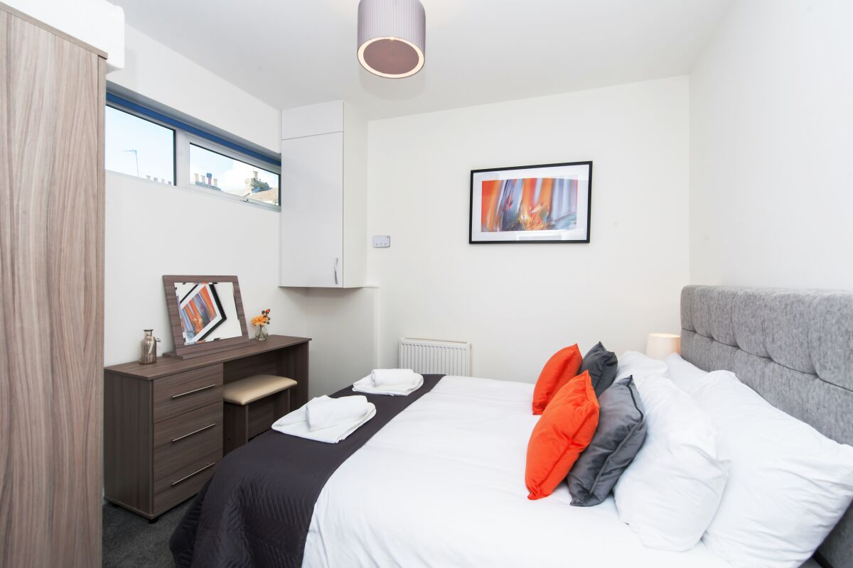 Bedroom, Primrose Corner Serviced Apartments, Ramsgate