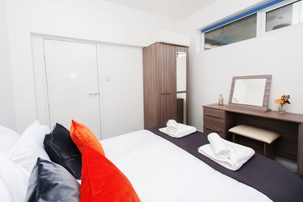 Bedroom, Primrose Corner Serviced Apartments, Ramsgate