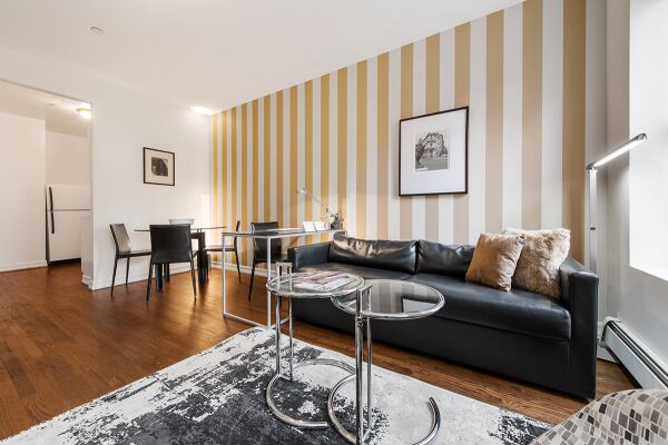 Living and Dining Area, 427 East Serviced Apartments, New York
