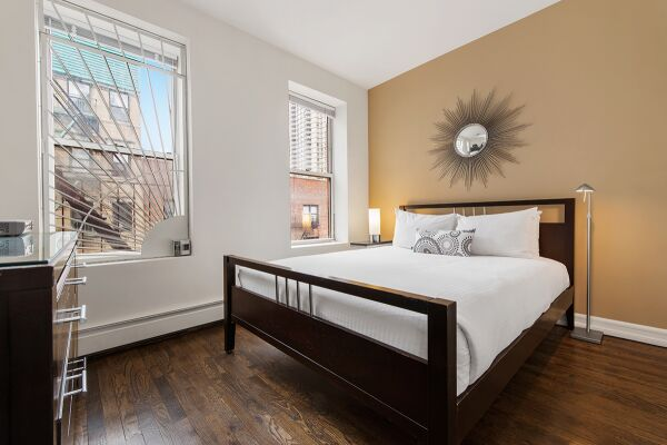 Bedroom, 427 East Serviced Apartments, New York