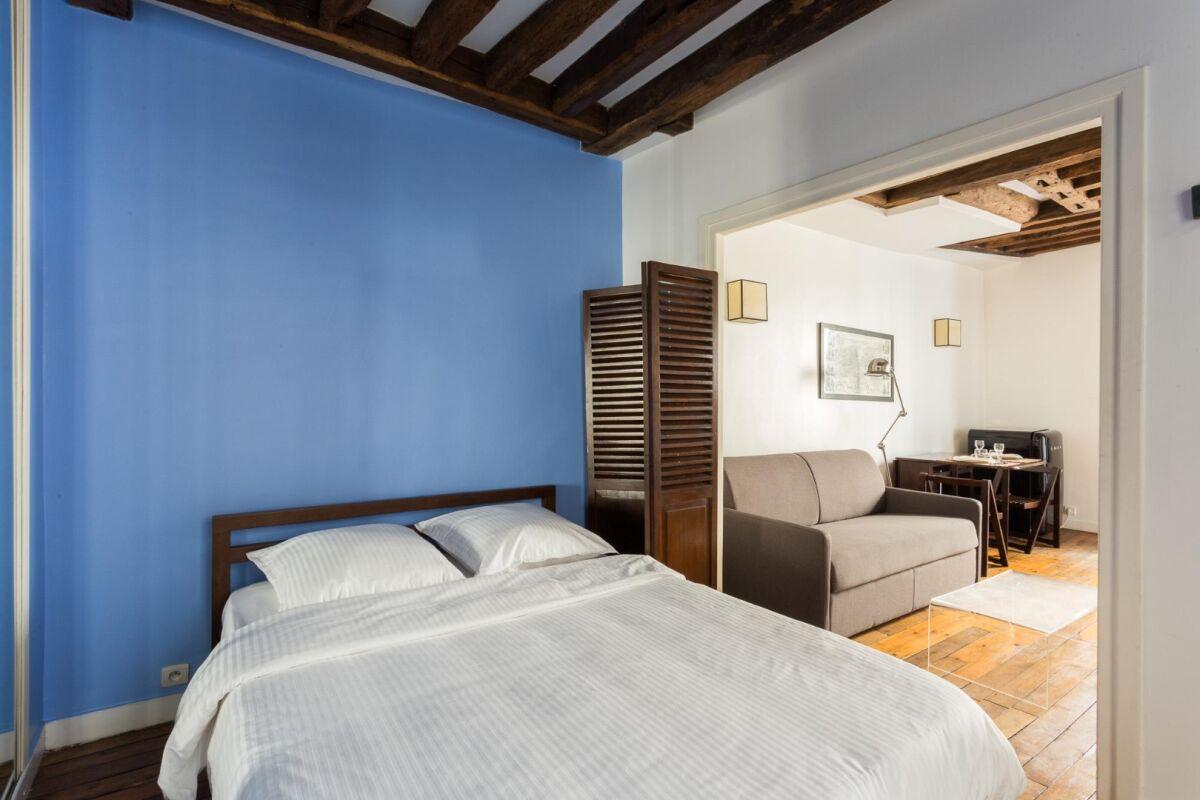 Bedroom, Rue Cloche Percé Serviced Apartment, Paris