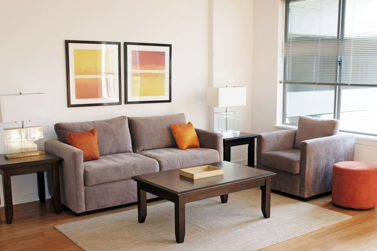 Living Area, The Boulevard Serviced Apartments, Stamford