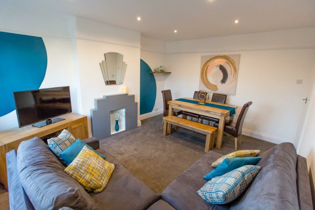 Living Area, Riverside Executive Serviced Apartment, Chelmsford