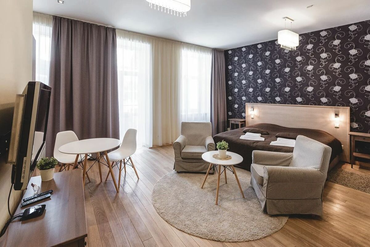 Living area, Ernesta Serviced Apartments, Serviced Accommodation Riga, Latvia