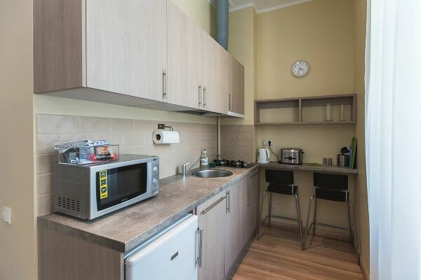 Kitchen, Ernesta Serviced Apartments, Serviced Accommodation Riga, Latvia