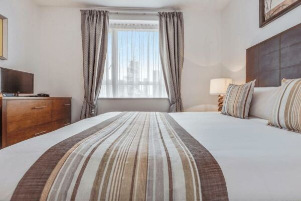 Bedroom, Circus Serviced Apartment, Serviced Accommodation, London