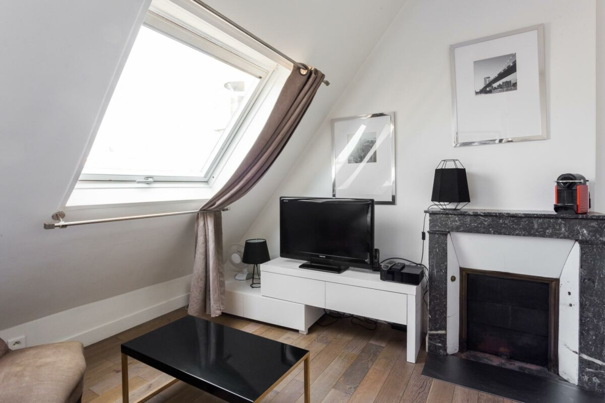 Living Area, Rue du Caire Serviced Apartment, Paris