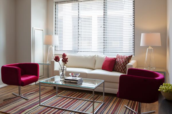 Living Area, Bank Street Commons Serviced Apartments, White Plains, New York