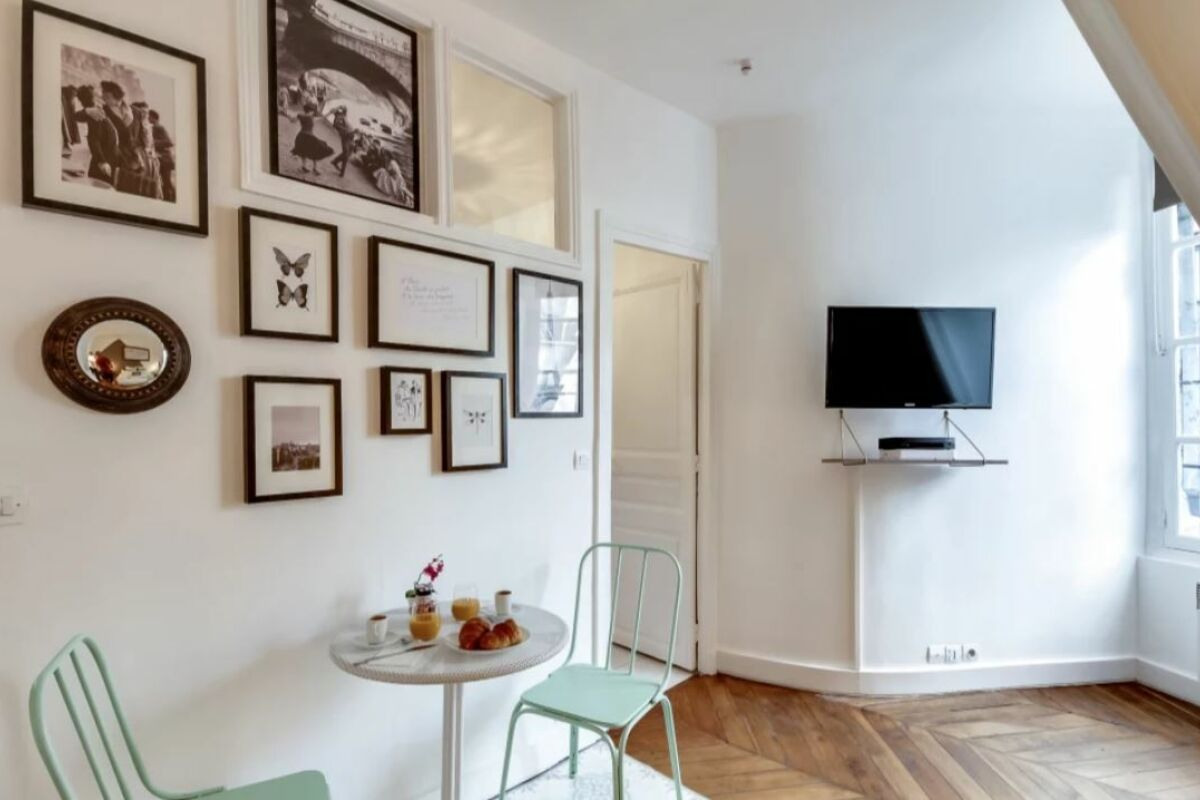Living Area, Rue de Archives Serviced Apartment, Paris