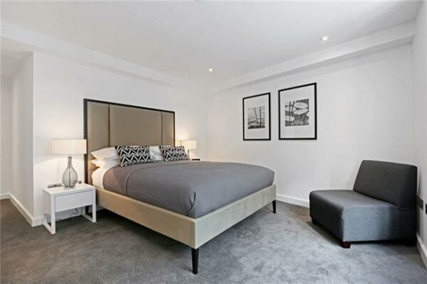 Bedroom, Fetter Lane Serviced Apartments, The City of London