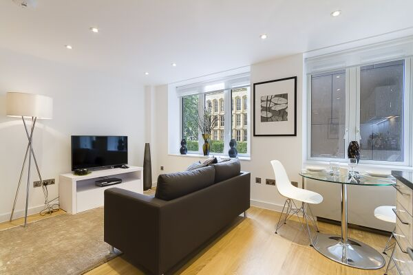 Living Room, Fetter Lane Serviced Apartments, The City of London