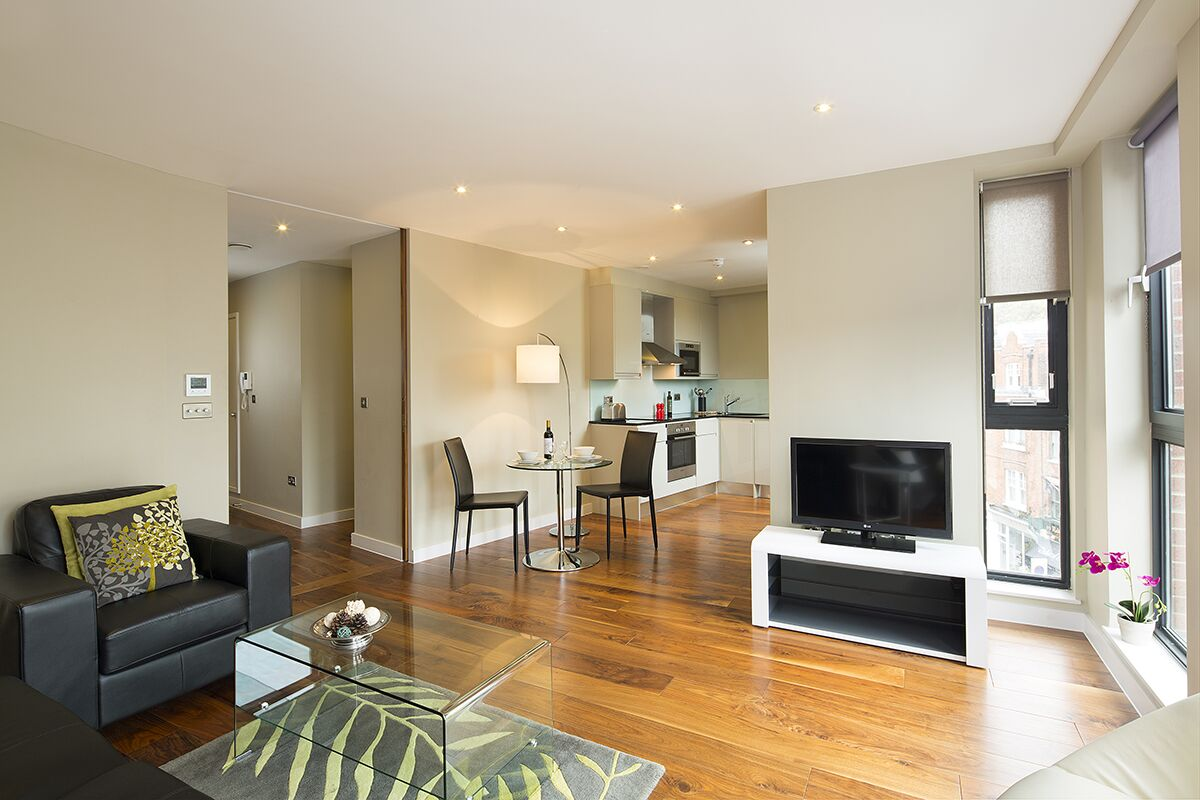 Living Room, Victoria One Serviced Apartments, London