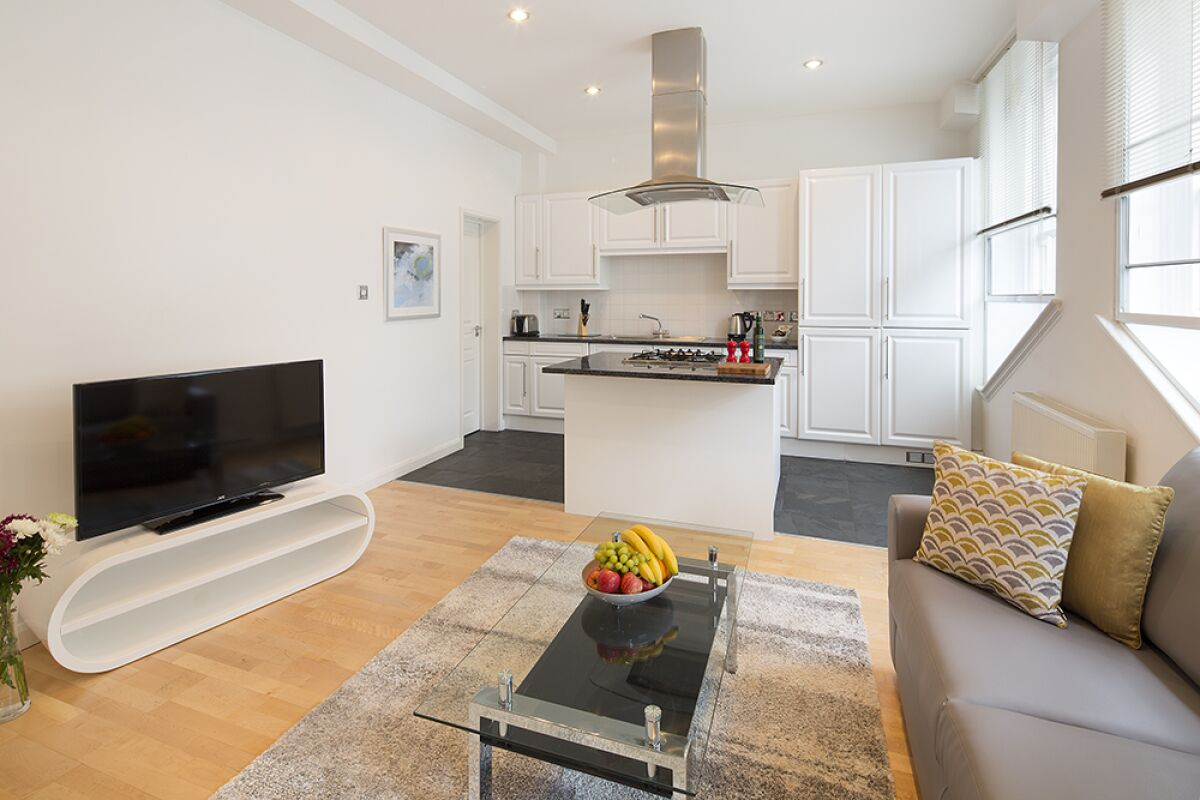Open Plan Living Area, Monument One Serviced Apartments, London