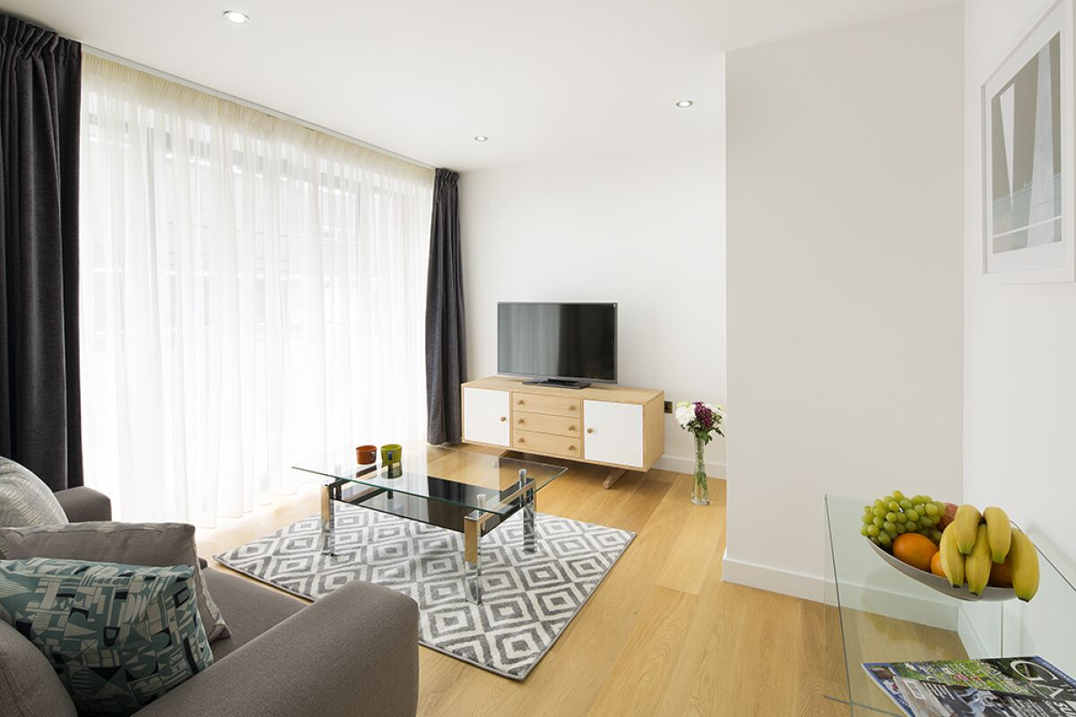 Living Room, Tower Hill One Serviced Apartments, London