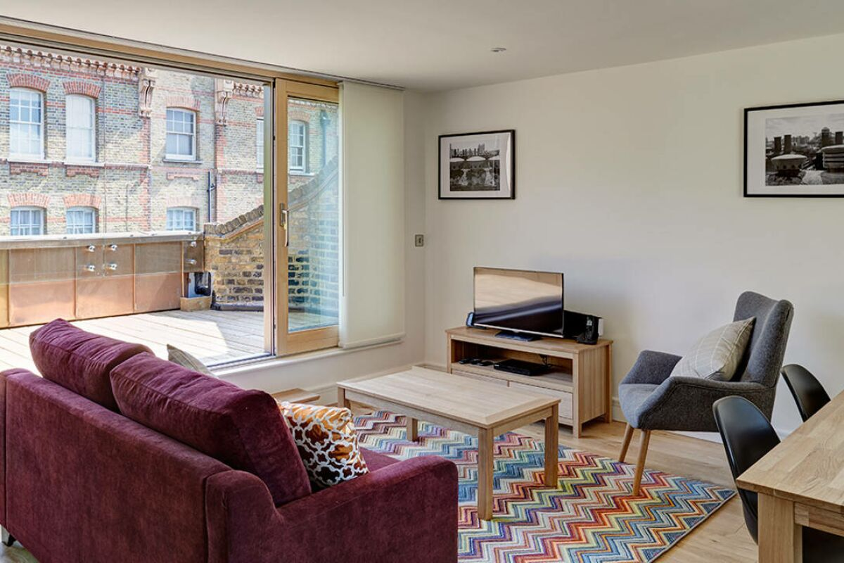 Living Area, Lambeth North Serviced Apartments, Lambeth, London