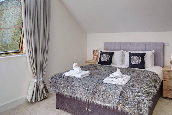 Bedroom, Lambeth North Serviced Apartments, Lambeth, London