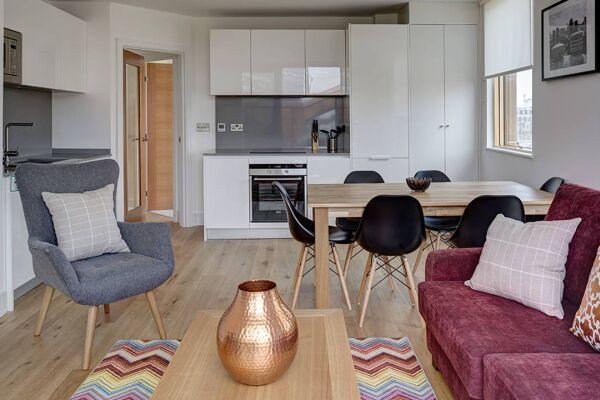 Kitchen, Lambeth North Serviced Apartments, Lambeth, London