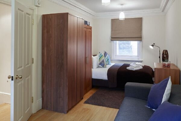 Bedroom, Leicester Square Serviced Apartments, Leicester Square, London
