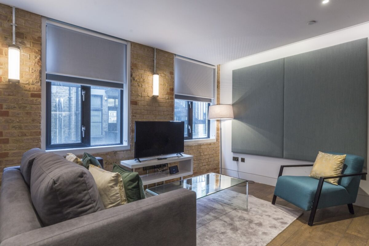 Living Area, Soho Lofts Serviced Apartments, London