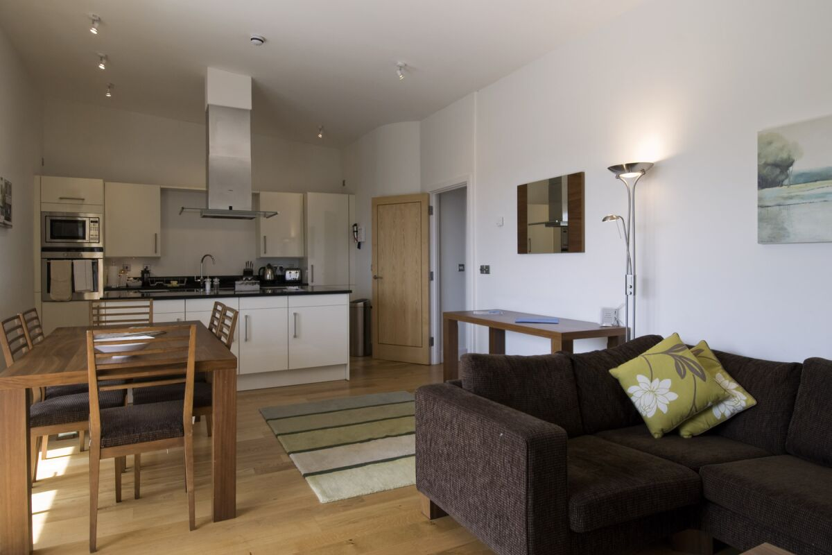 Living Area, The Hamiltons Serviced Apartments, Cambridge
