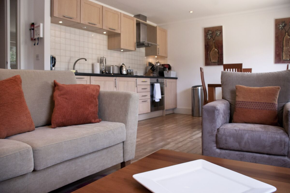 Living Area, Manor House Serviced Apartments, Cambridge